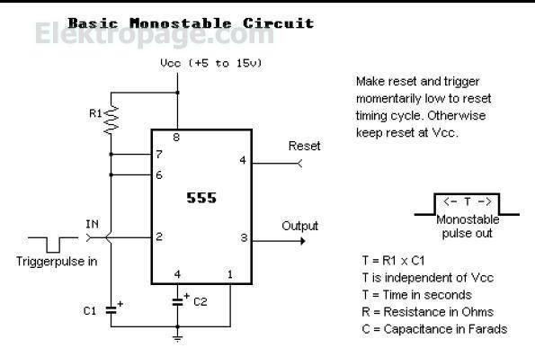 555 Basic Monostable circuit