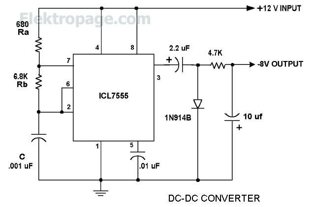 555 dc dc converter dc dc converter using with lm555 timer ic 555 rh elektropage com