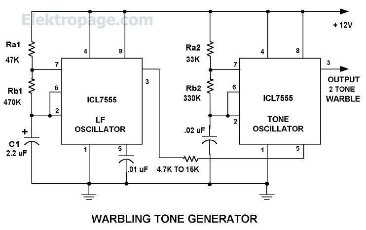 warbling tone generator
