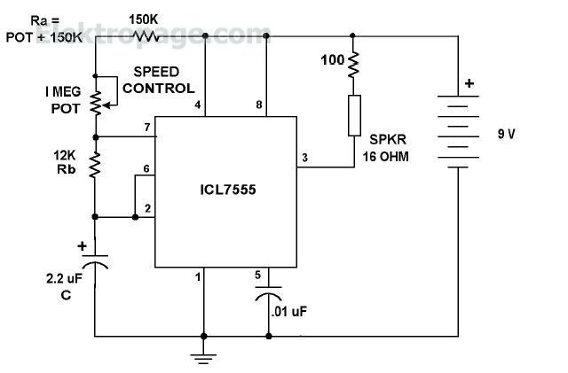 metronom beacon circuit schematic