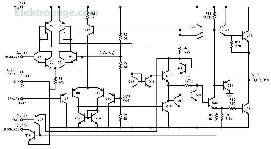556 dual timer internal block diagram