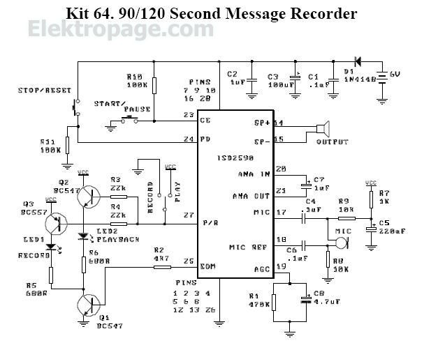 90-120 second voice recorder