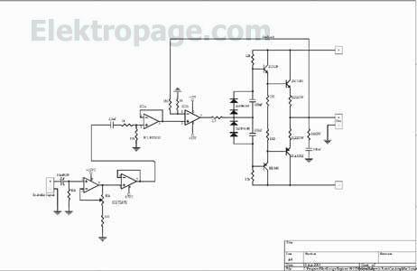 100 W Car Amplifier Shematic