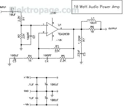 10 watt audio amplifier