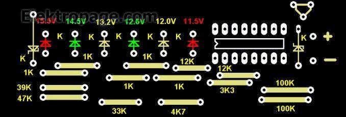 12 V BATTERY TESTER PCB EZ4E4