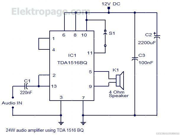 24Watt audio amplifier TDA1516BQ FE45A