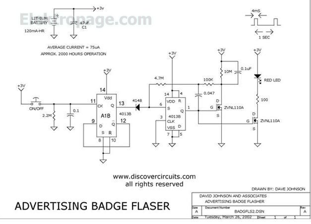 flashing leds Advertising Badge 2 5544D