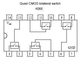4066 Four bilateral switches
