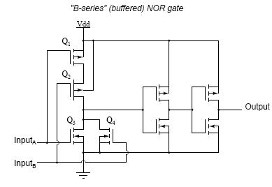 """B-series"" (buffered) NOR gate"