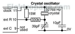 4060 crystal oscillator connections