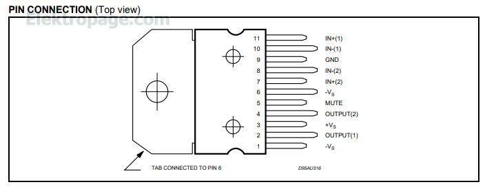 TDA7269A - Integrated Circuits Elektropage - The ...