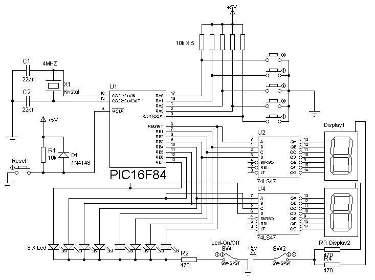 pic16f84 training circuit