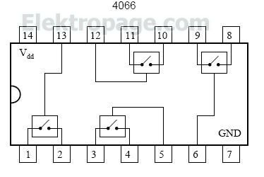 4066 Cmos bileteral switch