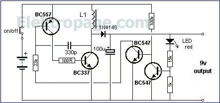 1.5v to 9v inverter circuit FEBZ6