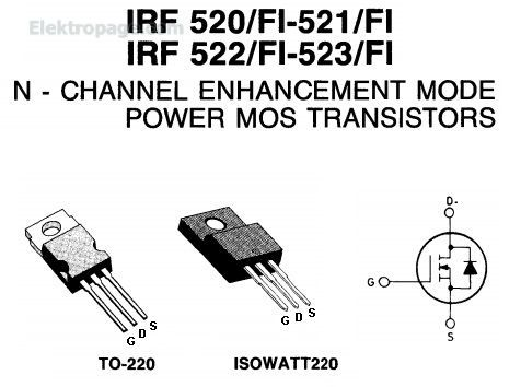 IRF522  TRANSISTOR TO-220