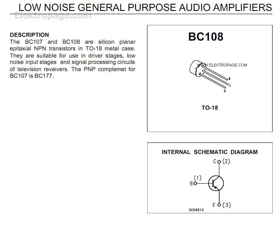 Bc108 datasheet