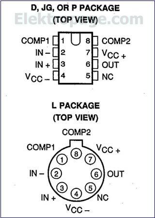 LM212  pinout diagram