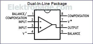 LM301  pinout diagram
