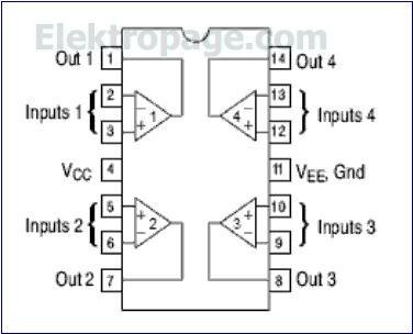 LM324 pinout diagram pins layout,connection schema ...