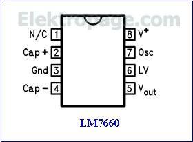 LM7660  Pinout diagram