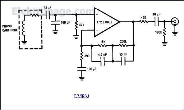 Lm833 Ic Pinout Diagram