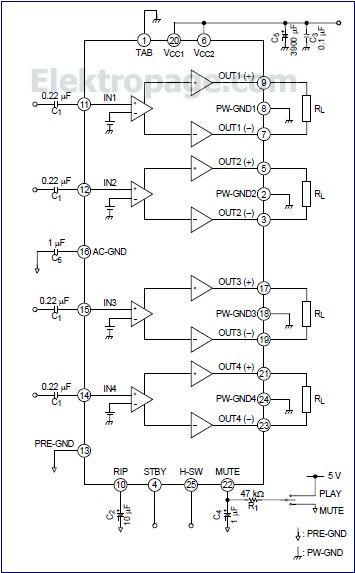 TB2901HQ car audio amplifier B7CZE