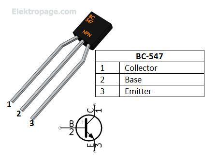 bc547 transistor pinout 415