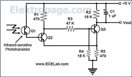 flame detector circuit schematic schematic circuits. Black Bedroom Furniture Sets. Home Design Ideas