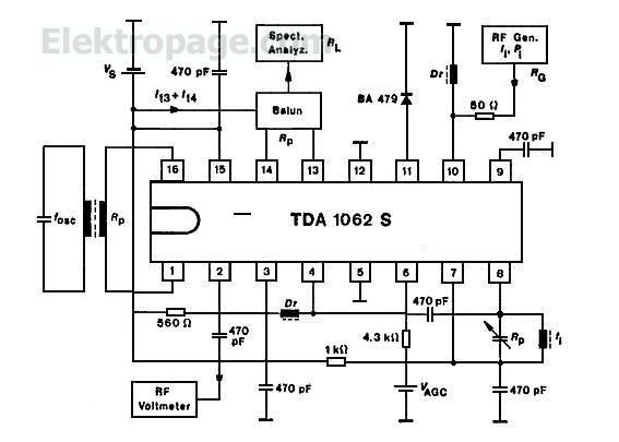 tda1062s pin connection diagram and pin fucntions and pin descripttion