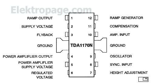 Tda1170 Pin Connection Diagram And Pin Fucntions And Pin