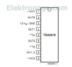Tda2616 Integrated Circuits Elektropage Com