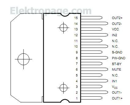 tda7266_pin_configuration_diagram_2az A Circuit Diagram Symbols on