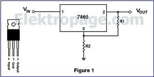 voltage regulator IC7805 D9E89