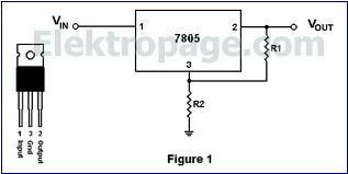 voltage regulator IC7805 D9E89